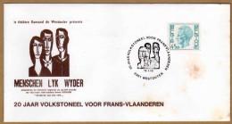 Enveloppe Cover Brief 1743 Elström 20 Jaar Volkstoneel Voor Frans Vlaanderen Westouter - Belgium