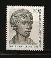 Allemagne Berlin 1971 N° 387 ** Architecte, Friedrich Gilly, Néoclassicisme,  Théâtre Feydeau,  Jean-Jacques Rousseau - [5] Berlin