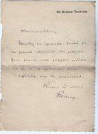 VP5478  - CLAS - Carte -Lettre De Mr Eugène BRIEUX De L'Académie Française - Auteur Dramatique,Journaliste à PARIS - Autographs