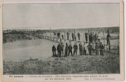 Afsluiting Nederlandse Grens - Opgeëiste Arbeiders Maken Brug [kaart Kieldrecht] - Guerre 1914-18