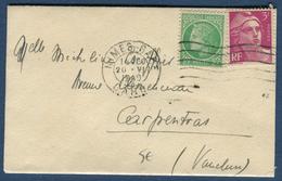 France - Enveloppe ( Format Carte De Visite ) De Nimes Pour Carpentras En 1949   Réf S 275 - Marcophilie (Lettres)