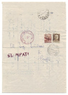 CVM05-STAMPA CON IMPERIALE ROMA 30 CENT. + DEMOCRATICA 10 CENT. 18.12.1945 - BELLA - 1944-46 Lieutenance & Humbert II