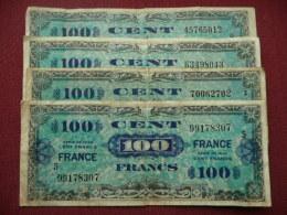 FRANCE Lot De 4 Billets Ayant Circulés - France