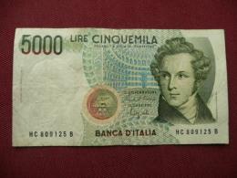 ITALIE Billet De 5000 Lire 1985 - [ 2] 1946-… : République