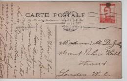 TP 123 Perforé D.B. S/CP De Fantaisie C.méc.Bruxelles 11/5/1914 V.London Engeland PR3465 - Perfins