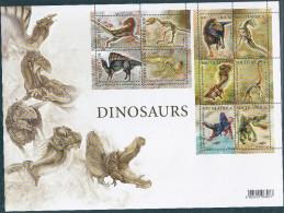 2009-South Afican-Dinosaurs 2009- - Blocchi & Foglietti