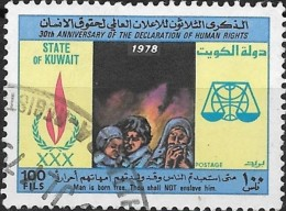 KUWAIT 1978 30th Anniv Of Declaration Of Human Rights - 100f Refugees FU - Kuwait