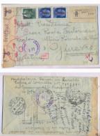 CVM43-RACCOMANDATA PER LA SVIZZERA CON IMPERIALE SOVR. FASCIO 4.12.1945 - CENSURA TIMBRI E FASCETTA - 1944-45 République Sociale