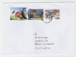 GOOD GREECE Postal Cover To ESTONIA 2016 - Good Stamped: Insect ; Butterfly - Greece