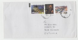 GOOD GREECE Postal Cover To ESTONIA 2016 - Good Stamped: Insect ; Man - Greece