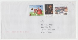 GOOD GREECE Postal Cover To ESTONIA 2016 - Good Stamped: Butterfly ; Man - Greece