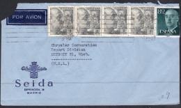España 1955. Correo Aéreo De Madrid A Detroit. - 1931-Aujourd'hui: II. République - ....Juan Carlos I