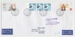 GOOD HONG KONG Postal Cover To ESTONIA 2016 - Good Stamped: Post Day ; Bird ; Seismoscope - 1997-... Chinese Admnistrative Region