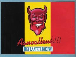 VOETBAL - RODE DUIVELS - AANVALLEUH !!! - HET LAATSTE NIEUWS (S 1471) - Stickers