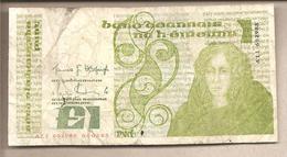 Irlanda - Banconota Circolata Da 1 Sterlina P-70c.9 - 1985 - Irlanda