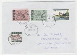 GOOD BELGIUM Postal Cover To DENMARK 2001 - Good Stamped: Europa - Belgique