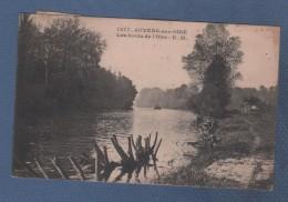 95 VAL D'OISE - CP AUVERS SUR OISE - LES BORDS DE L'OISE - E. M. N° 1277 - CIRCULEE EN 1924 TIMBRE 8e OLYMPIADE - Auvers Sur Oise
