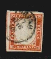 Italien Staaten Sardinien 1855 Mi 13 D Vollrandiges Gestempeltes Prachtstück 1858, Mi 250,-€ - Sardinia