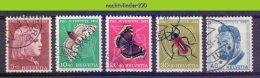 Mwe2310 FAUNA VLINDERS INSECTS JUVENTUTE BEETLE BUTTERFLIES SCHMETTERLINGE MARIPOSAS PAPILLONS HELVETIA 1953 Gebr/used - Vlinders