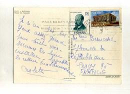- ESPAGNE 1971/80 . AFFRANCHISSEMENT COMPOSE SUR CP DE 1971 POUR LA FRANCE . - 1931-Oggi: 2. Rep. - ... Juan Carlos I