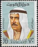 KUWAIT 1969 Amir Shaikh Sabah - 70f. - Blue  MNG - Kuwait