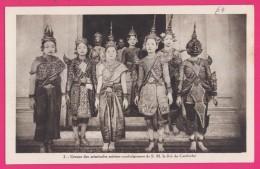 1257 - ASIE VIET - NAM - CAMBODGE - Groupe Des Principales Actrices Cambodgiennes De S.M. Le Roi Du Cambodge