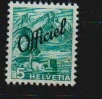 """Schweiz 1942 Dienstmarke Mi D 47 W **, Mit Der Abart """"dünnes Papier"""", Mi 160,-€ - Service"""