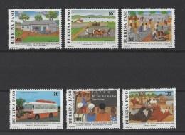 BURKINA FASO. YT 763/768  Neuf **  Plan Quinquennal De Développement Populaire  1987 - Burkina Faso (1984-...)