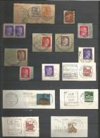 ALLEMAGNE LOT D'OBLITERATIONS SUR FRAGMENTS DIVERSES EPOQUES - Lots & Kiloware (mixtures) - Max. 999 Stamps