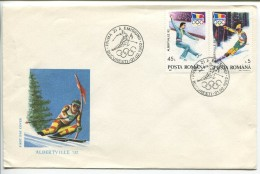Figure Skating, Slalom, FDC,1992 - Winter 1992: Albertville