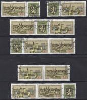 Germany (DDR) 1976  Briefmarkenausstellung Junger Philatelisten  (o) Mi.2153-2154 (W Zd 331-336) - Gebraucht