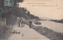 Flize - Bords De La Meuse Vers Le Nouveau Pont - Vallée De La Meuse Illustrée 4 / Chevaux De Halage - Frankreich