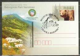 Entier Postal 2001 Parc National Ours, Montagne, Fleur, Nature Animal Animaux Zoo - Ganzsachen