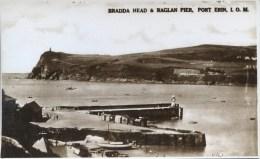 ISLE OF MAN - PORT ERIN - BRADDA HEAD  AND RAGLAN PIER RP Iom276 - Isle Of Man