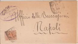 San Remo. 1897 Annullo Tondo Riquadrato Su Lettera, Con Testo + Ovale Sindaco - 1878-00 Humberto I