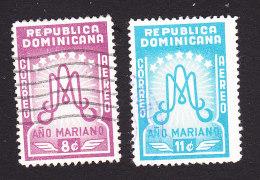Dominican Republic, Scott #C87-C88, Used, Ano Mariano Initials, Issued 1954 - Dominican Republic