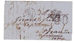 Lettre De Paris. Taxe 15 Annulée Par L'étoile Muette Et Taxe 30 Double Trait. - Postmark Collection (Covers)