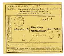 Enveloppe 1198 De Troarn, Calvados. Taxe 30 Double Trait. - Postmark Collection (Covers)