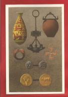 """BELGIQUE - Histoire Du Peuple Belge -  Monnaies, Lampes, Poteries Romaines -  Collection """"Nos Gloires """"  - CHROM0 - - Belgien"""