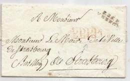 - Lettre - Précurseur XIXeme - EURE - P.26 P.  VERNON Noir + P.P.P.P. Encadré - 1792-1829 - Storia Postale