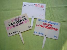 Lot De 3 étiquettes De Roquefort - Fromage