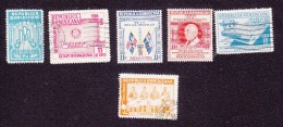 Dominican Republic, Scott #C88, C90-C91, C94-C95, C111, Used, Ano Mariano, Rotary, Flags, Fair, ICAO, Issued 1954-59 - Dominicaanse Republiek