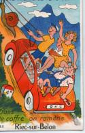 29-riec Sur Belon-carte A Systeme-la Monteras Tu La Cote - Autres Communes