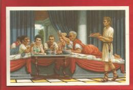 """BELGIQUE - Histoire Du Peuple Belge - Gallo-Romains à Table -  Collection """"Nos Gloires """"  - CHROM0 -  2 Scans - Belgien"""