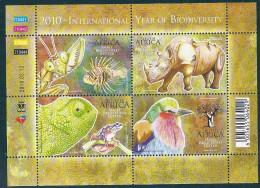 Suoth African-2010-International Year Of Biodiversity - Blocchi & Foglietti