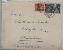 1930 Pro Juventute J55/J56 243/244 Brief Von Wald Zürich Nach München - Lettres & Documents