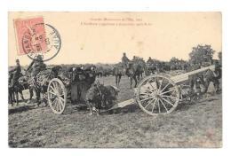 (10397-00) Grandes Manoeuvres De L'Est - L'Artillerie S'apprêtant à Disparaître Après Le Tir - Manovre