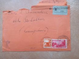 26.2.1947 Lettera Raccomandata L.14 Repubbliche Medioevali L.10 + Democratica L.4 Cromatica ROSSA - 1946-60: Marcofilie