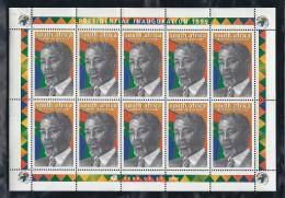 South Africa-1999 - President Mbeki - Blocchi & Foglietti