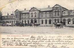RRR! HALMSTAD (Schweden) - Östra Jernvägstationen, Viele Pferdekutschen, Sonderstempel, Mit 5 Ö Marke Gel.1904 V.? ... - Schweden